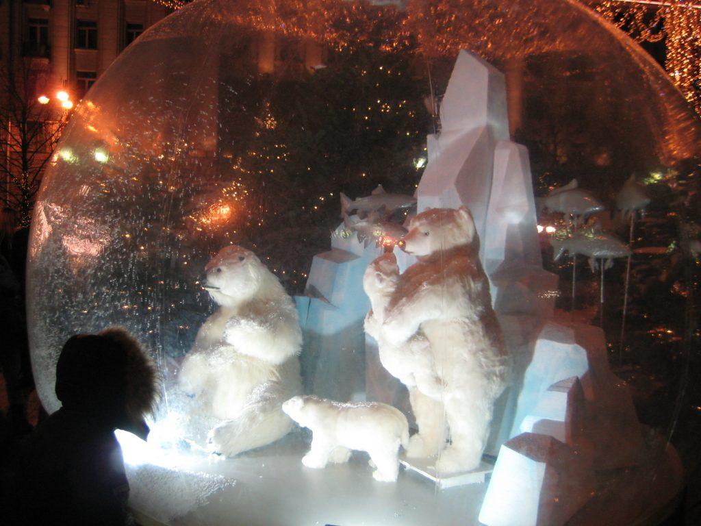 白クマのオブジェ